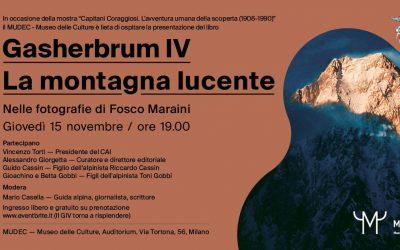 """Presentazione del libro """"Gasherbrum IV La montagna lucente"""""""
